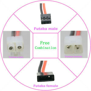 JR Futaba Servo to JST 20AWG 15CM Wire for RC Plane Helicopter Adapter