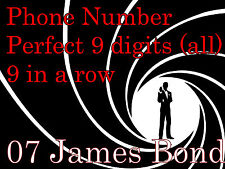 "James Bond rare 9 letter wordspell mobile telephone number = : ""07 James Bond"""