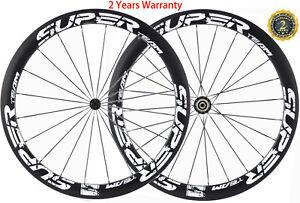 50mm-Carbon-Wheels-Road-Bike-Cycle-Wheelset-700C-UD-3K-Wheelset-Shimano-Campy