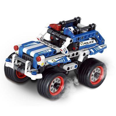 Police Interceptor & Getaway Racer Combines to Police Racer Pull Back Motor
