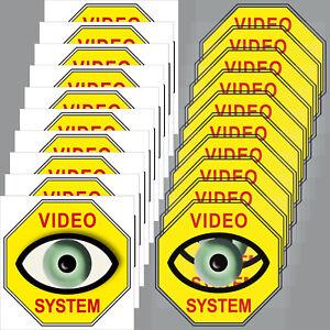 Grosses Soldes 10+10 Autocollant 5 Cm Jaune Vidéo Oeil Système Sticker Set Pour Intérieur Fenêtre-afficher Le Titre D'origine
