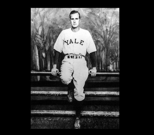 1948 George H W Bush Yale Baseball Photo Team Captain President