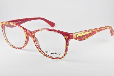 035d0d83bda7 Dolce   Gabbana DG 3174 Eyeglasses 2748 Golden Leaves On Red