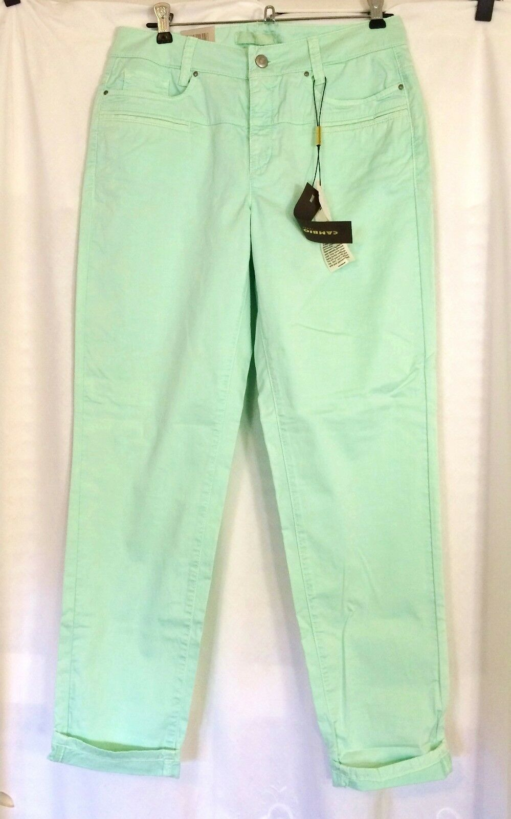 NWT Cambio Perarlie Pants light-green  Soft, stretch  Size  10  Org. 125.00