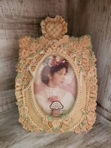 STUNNING-Vintage-Floral-Picture-Frame-3D-Antique-Victorian-Style-4x6-Photo