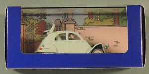 En Voiture Tintin certificat N33 la 2 cv emboutie bijoux castafiore boîte
