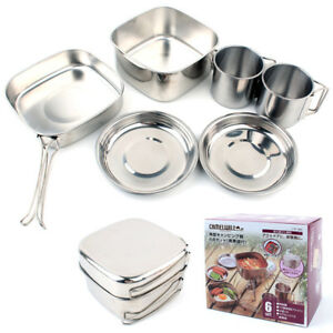 6PCS-Stainless-Steel-Camping-Cookware-Outdoor-Picnic-Cooking-Pot-BBQ-Hiking-Set