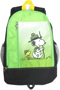 Schulz Peanuts Snoopy Woodstock Junior Park Ranger Kids School Backpack Bag