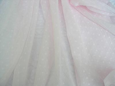Baby Pink Clip Dot Lawn Beautiful Soft Hand. Dolls, Ruffles Semi Sheer