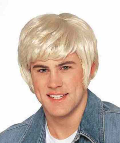 70/'s Dude Wig Blonde Shag Surfer Fancy Dress Halloween Adult Costume Accessory