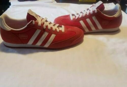 Adidas Dragon Mens Red Suede Athletic Tennis Shoes