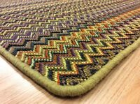 Fabulous Emerald Narrow Wfn502 Green Purple Crucial Trading Rug 120x135cm 60%off