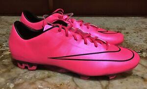 comprender Sudamerica Transparente  NIKE Mercurial Veloce II 2 FG Hyper Pink Black Soccer Cleats NEW Mens Sz  12.5 | eBay