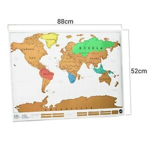 Flexfirm large world scratch wall map world map poster atlas asia image is loading flexfirm large world scratch wall map world map gumiabroncs Image collections