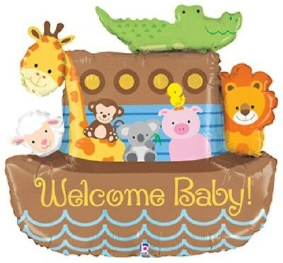 """37"""" BALLOON nu NOAH'S ARK welcome BABY GIFT birthday PARTY hospital SHOWER decor"""