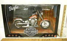 Harley Davidson Collectible Barbie Motorcycle Fatboy 1999 Mattel Item 26132 NIB