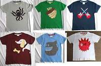 MINI BODEN Designer Boys Short Sleeve T-Shirt with Applique Design NEW