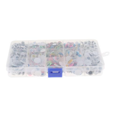 Lot de 600 en plastique de sécurité Wiggle Yeux Doux pour Poupée À faire soi-même Making assortis