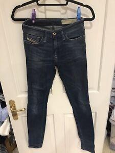 Diesel Skinzee Pantalones Vaqueros Para Mujer W26 L32 Talla 8 Azul Denim Slim Skinny Regular Ebay