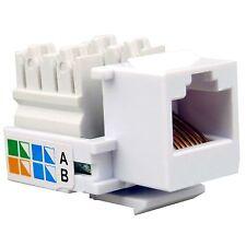 10 x RJ45 Network Keystone Jack Cable Wall Adapter Plug Cat5e LAN Plastic Module