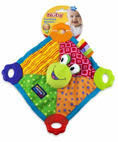 1 2 3 6 12 Packs Nuby Teething Blankie 0m
