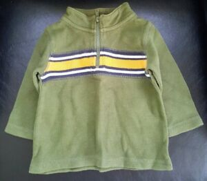 Pre-Owned-Boy-s-Gymboree-Pullover-Striped-Shirt-Size-12m-to-18m