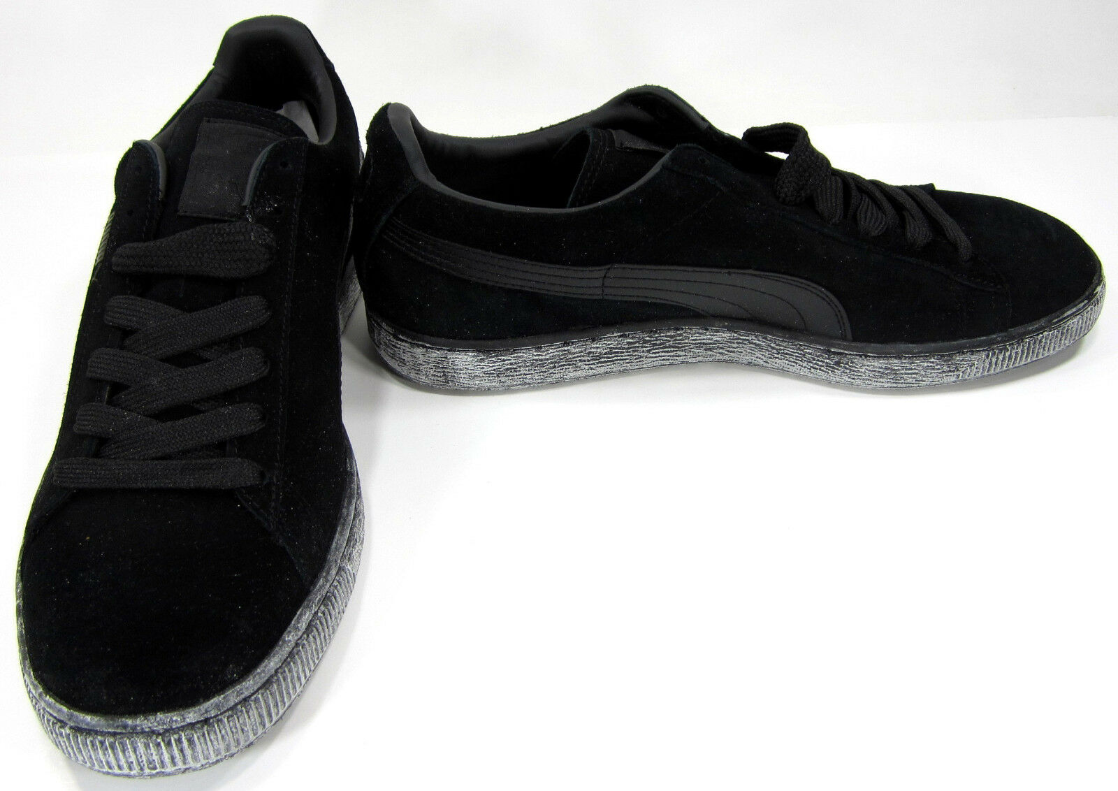 Puma shoes Suede Classic + Powder Coated Black Charcoal Sneakers Size 10