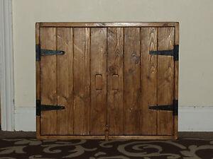Armadio A Muro Bagno.Rustic Antique Style Solid Wood Wall Cupboard Shelf Kitchen Bathroom