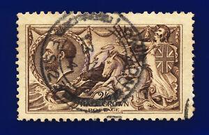 1913-SG400-2s6d-Sepia-Brown-Waterlow-N63-3-London-13-NO-14-GU-Cat-150-cizm