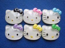 "30 Resin 1"" Hello Kitty Flatback w/Bow-6 Colors"