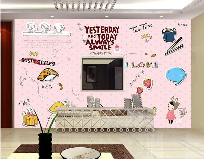3D SOGNO delizioso Sushi Carta Stampa Muro Muro Decalcomania Decalcomania Decalcomania Muro Murales AJ Carta da parati GB 0d2eee