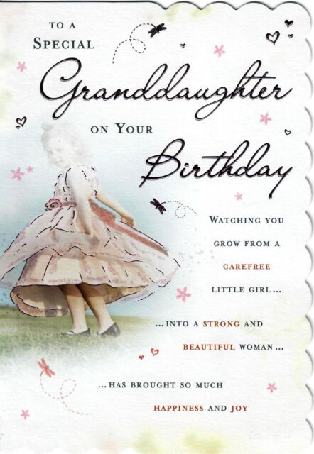 Stunning Design And Beautifully Worded To A Special Granddaughter Birthday Card