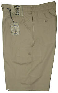 Bermuda-uomo-Taglia-M-L-XL-XXL-3XL-pantalone-corto-tasconi-beige-SEA-BARRIER