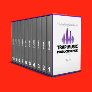 Details about Trap Music Production BUNDLE Vol  2 Wav SAMPLE PACK DRUM KIT  MPC FL St ⭐️⭐️⭐️⭐️⭐