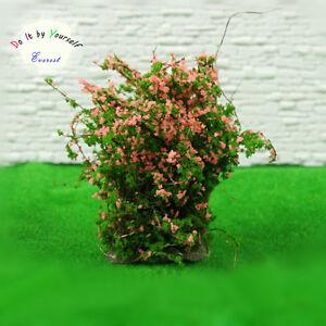 4-Dollhouse-Window-Box-Layout-Scenery-Landscape-Model-Ground-Cover-Flower-Pink