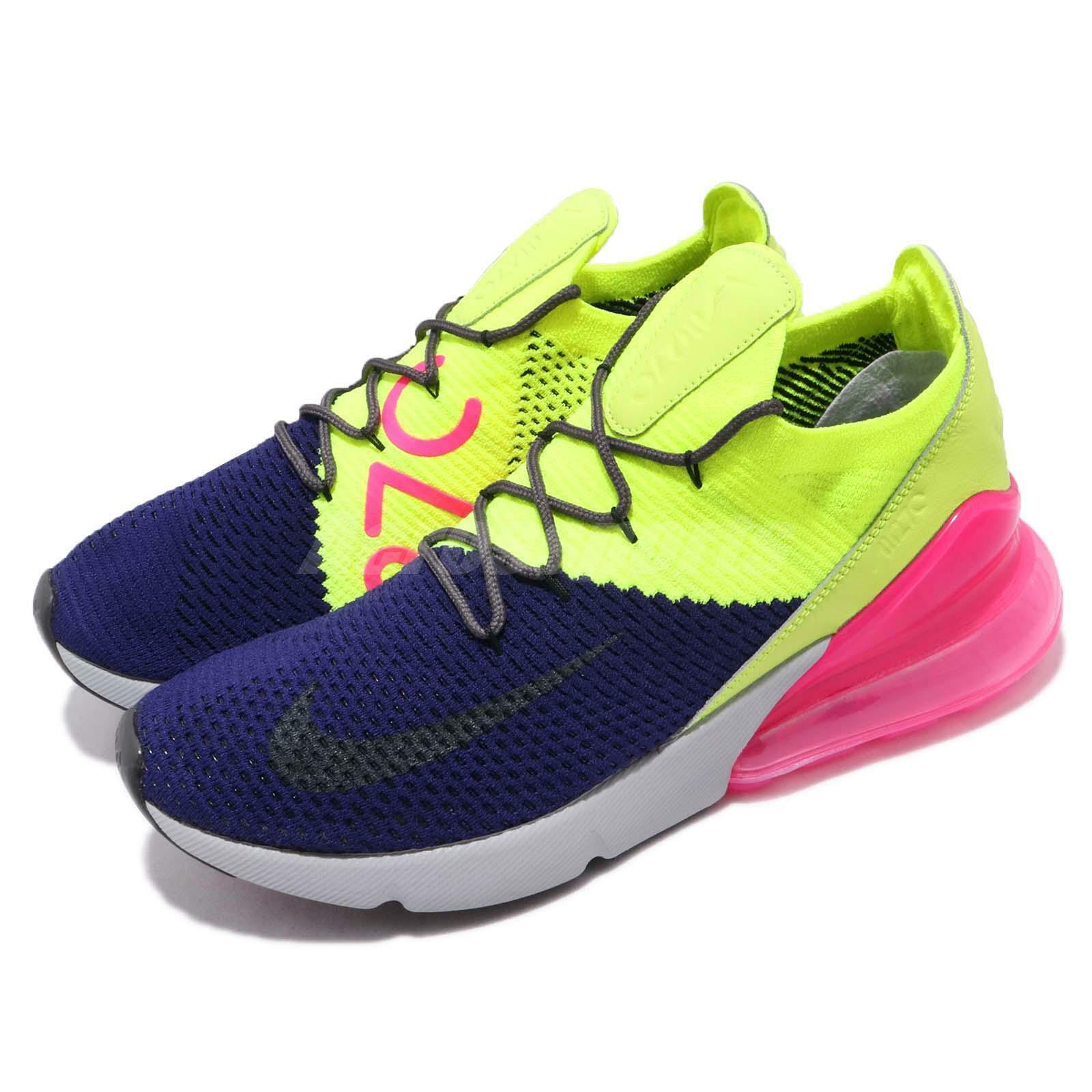 8ab4cc57d0 Nike Air Max 270 Flyknit Multi-color Purple Men Running shoes Sneaker  AO1023-501