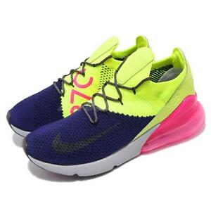 innovative design 5eb9c 03328 Image is loading Nike-Air-Max-270-Flyknit-Multi-Color-Purple-