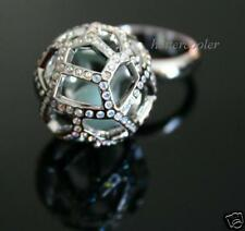 $180 NEW Authentic SWAROVSKI CRYSTAL Jade Ball RING 58/L/8 935394
