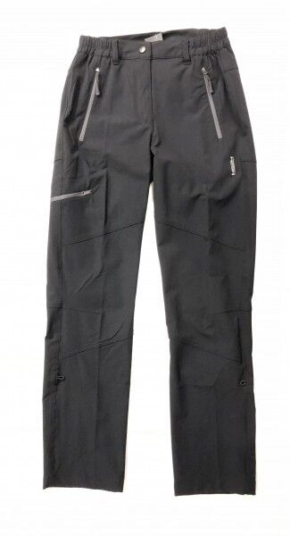 HS HOT Sportswear Donna pantalone TREKKING SANTIAGO Wanderhose Nero Nuovo