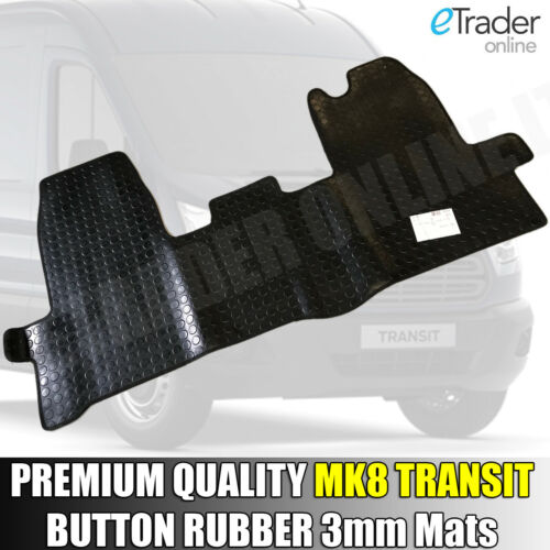 Ford Transit MK8 Rubber Floor Mats Mat 1 PCE 2014/> Button Rubber Premium Quality