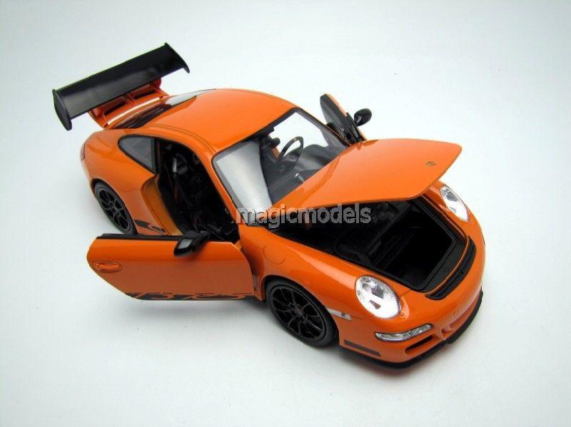 Ei 2007 porsche 911   997 gt3 rs - farbe Orange in 1   18 - skala.neue version
