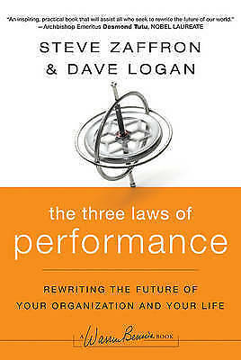 1 of 1 - The Three Laws of Performance..HARDCOVER..STEVE ZAFFRON...VGC    lnf 232