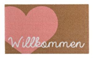 Paillasson-Paillasson-Willkommen-c-ur-rose-marron-50x70-cm