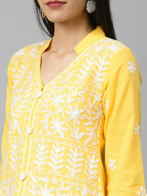 Eid Wear Cotton Chikankari Kurta Ethnic Wear Lucknowi C embroidery Kurta shirt