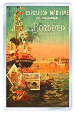 BORDEAUX EXPOSITION VINTAGE REPRO FRIDGE MAGNET SOUVENIR IMAN NEVERA