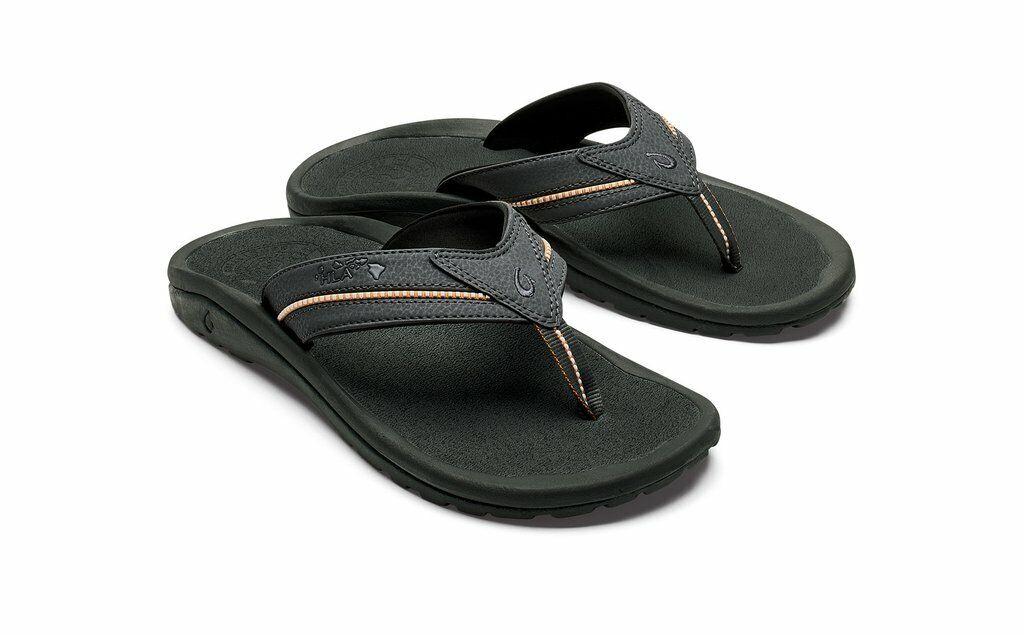 OluKai Kia'I Sandalia flip flop para hombre II - 8, Sombra Oscura Sombra Oscura