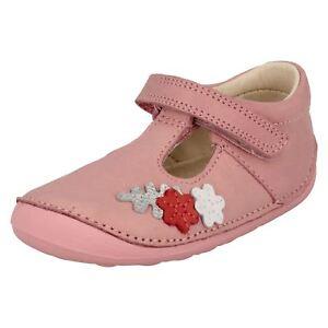 Clarks Botones Pre Chica Zapato Cuero Pequeño Vehículo rPAqRUrO