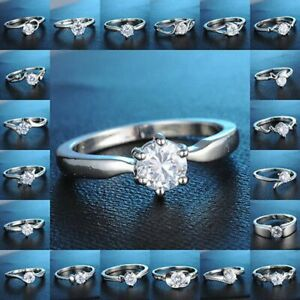 Silver-Engagement-Wedding-Rings-Zircon-Moon-Love-Women-Bridal-Jewelry-Party-Gift