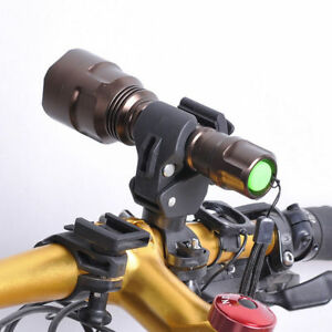 360 Degree Bicycle LED Flashlight Mount Holder Bicycle Torch Clip Clamp YA9
