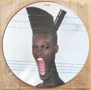 "Grace Jones Slave To The Rhythm UK 12"" Pic Disc Island Records 2 ISP 206 1985"